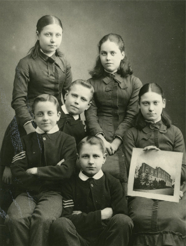 Group of Children of The Metropolitan and City Police Orphanage - 1900