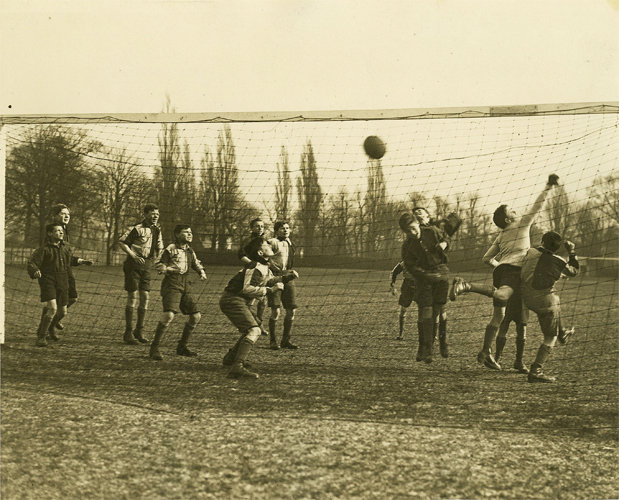 Boys of the Police Orphanage at football